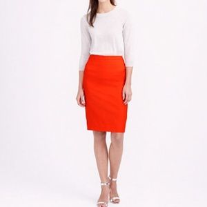 J. Crew | The Pencil Skirt in Red Wool Blend